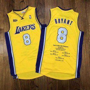 Los Angeles Lakers 8 Kobe Bryant Gold Jersey (2)